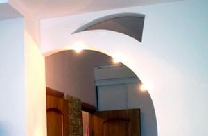 Арка со светильниками