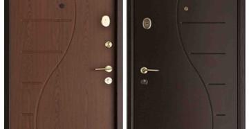 Две входные двери разных цветов