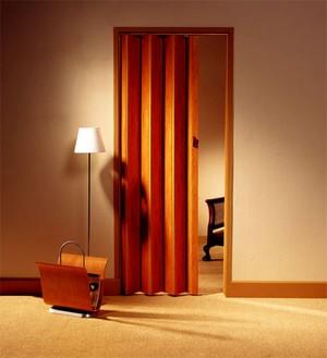 Красивая дверь гармошкой