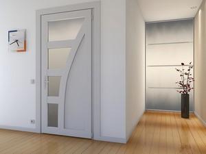 Пластиковая дверь в комнату