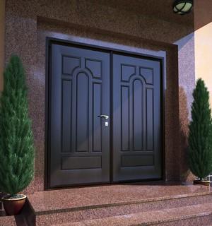 Широкая металлическая дверь
