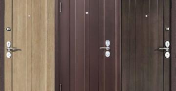 Три металлические двери