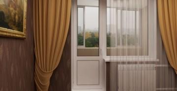 Балконный блок в спальне
