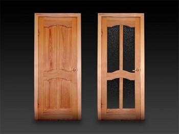 Две деревянные двери