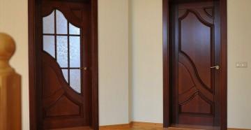 Две межкомнатные темные двери