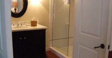 Двойная дверь в ванную комнату