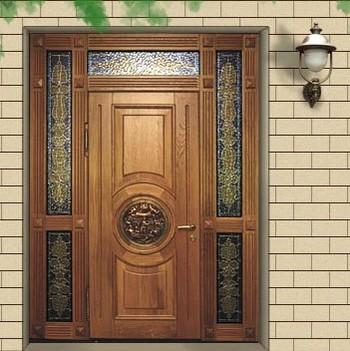 Необычная входная дверь