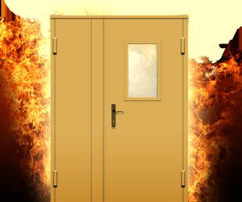 Огонь сзади двери