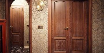 Шпонированные двери в квартире