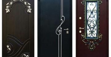 Три красивые входные двери