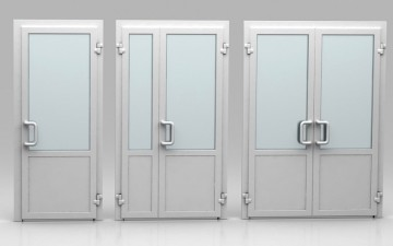 Три вида пластиковых дверей