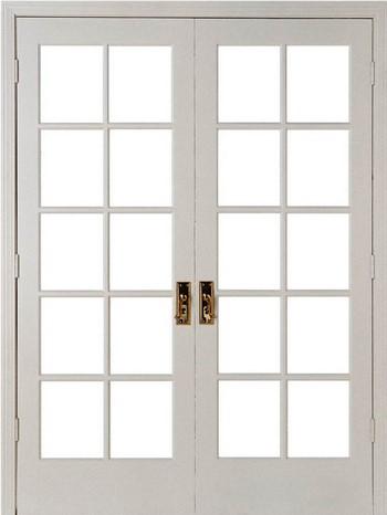 Двойная пластиковая дверь со вставками