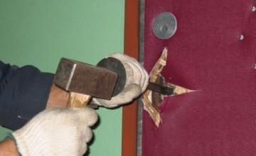 Грубое вскрытие входной двери