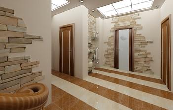 Красивые двери в холле