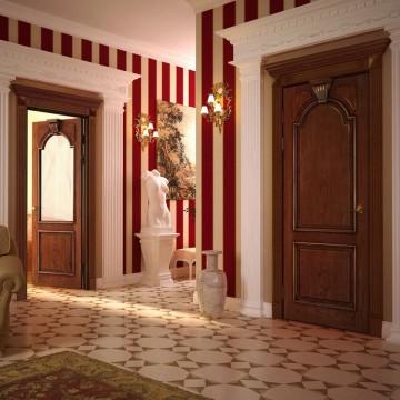 Красивый холл в античном стиле