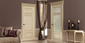 Стильные светлые двери
