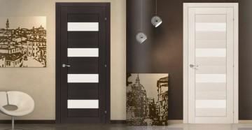 Две двери со стеклянными вставками