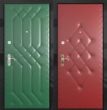 Две оббитые входные двери