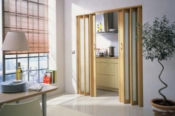 Двойная дверь гармошка