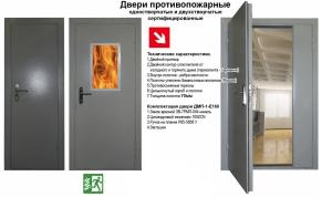 Характеристики противопожарных дверей