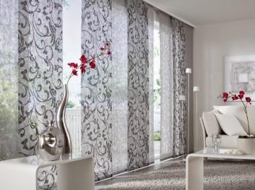 Красивые серые японские шторы