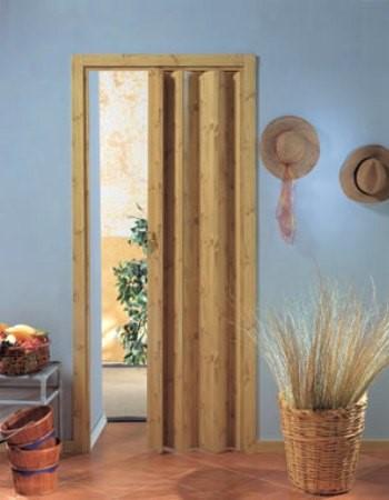 Приоткрытая гармошка дверь