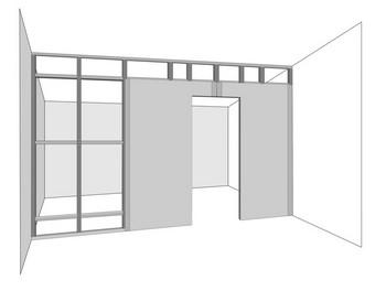 Схематичный дверной проем