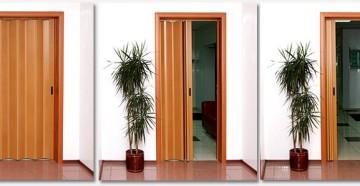 Стадии открытия двери гармошки
