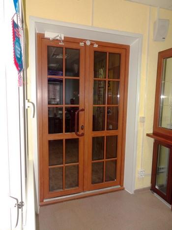 Входные пластиковые двойный двери