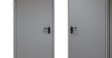 Две серые противопожарные двери