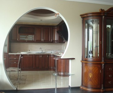 Круглая арка на кухню