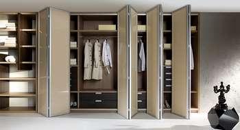 Двери гармошка для гардеробной
