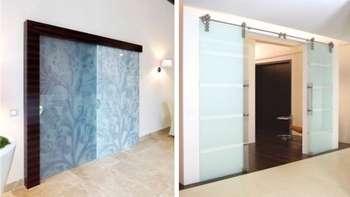 Красивые раздвижные стеклянные двери