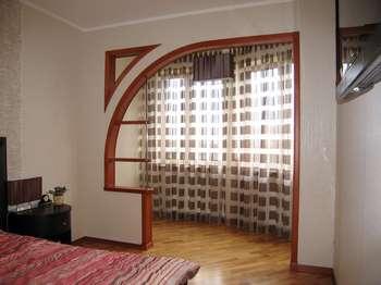Стильная арка в спальне