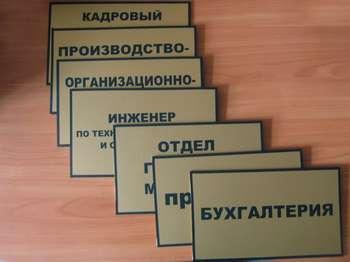 Таблички на дверь кабинета