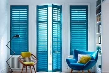 Голубые двери жалюзи