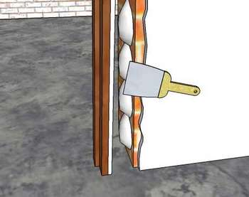 Рисунок оштукатуривания дверного проема