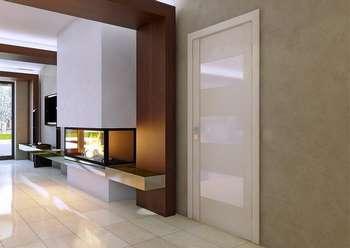 Стильная белая дверь