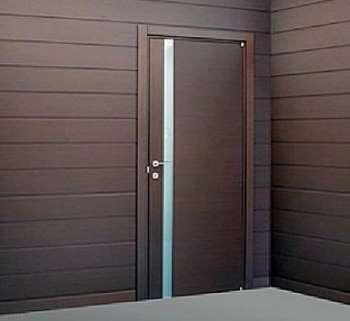Стильная коричневая дверь