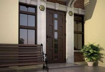 Стильная входная дверь в дом