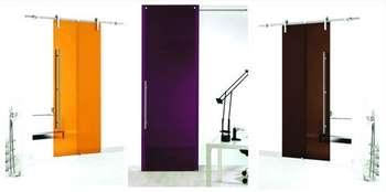 Стильные стеклянные двери