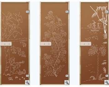 Три стеклянные двери в парилку