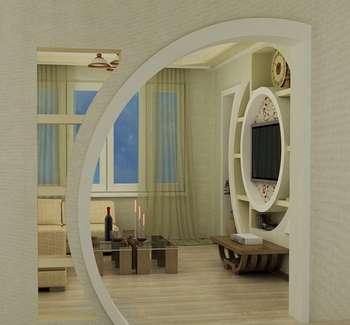 Красивая угловая арка