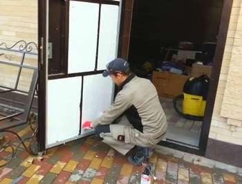 Утепление входной двери полистеролом