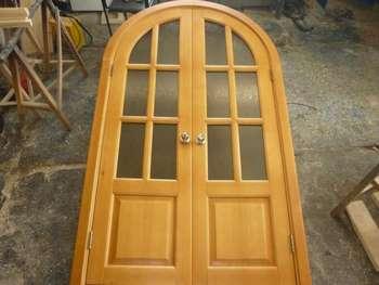 Двойная дверь из сосны