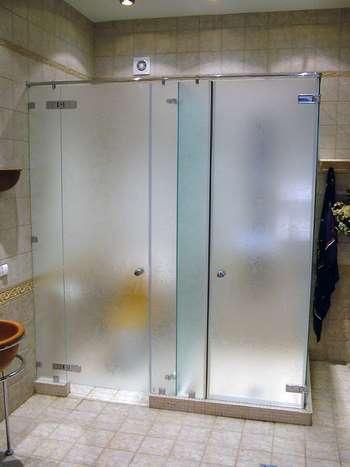 Душевая кабина с раздвижными дверями