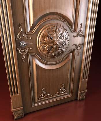 Очень красивый дизайн двери