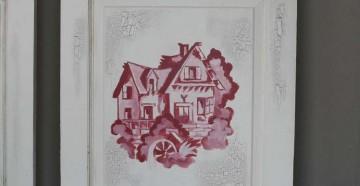 Рисунок на деревянной двери