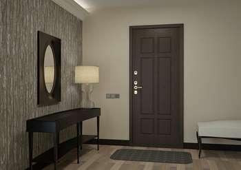 Стильная металлическая дверь