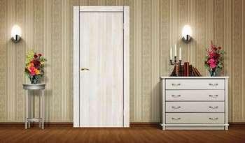 Светлая дверь в коридоре
